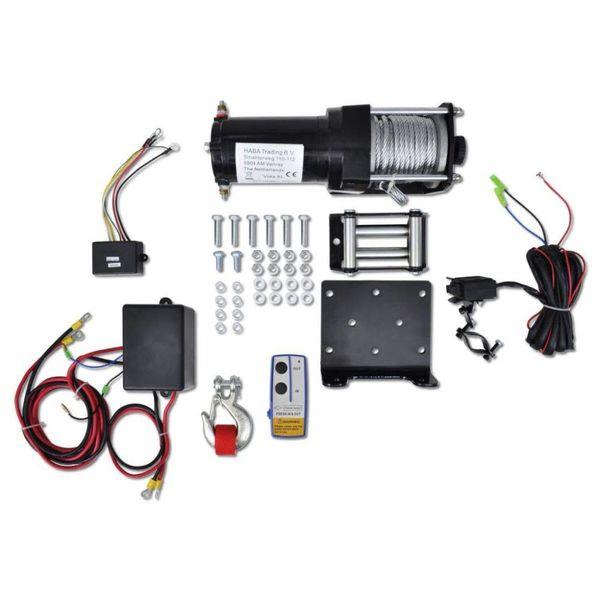 Elektrische lier 12 V 1360 kg met montageplaat en rollenvenster