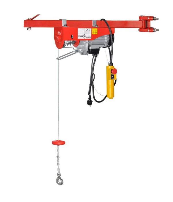vidaXL Elektrische lier 1300 W 400/800 kg