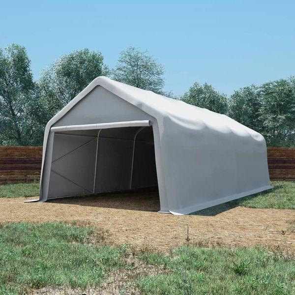 Opslagtent 550 g/m² 4x8 m PVC wit