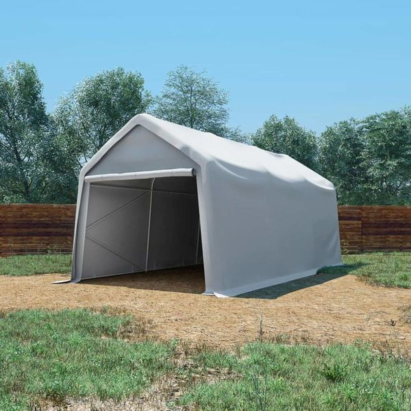 Opslagtent 550 g/m² 3x6 m PVC wit