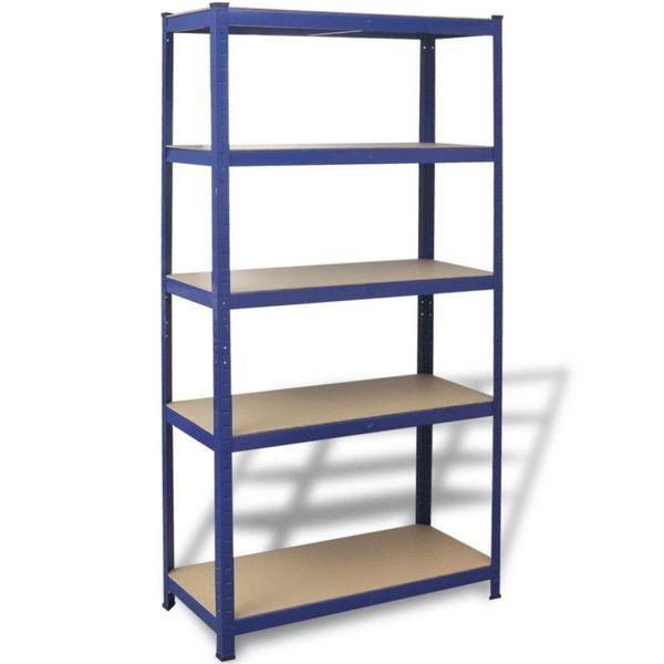 Opbergrek 90x40x180 cm staal blauw