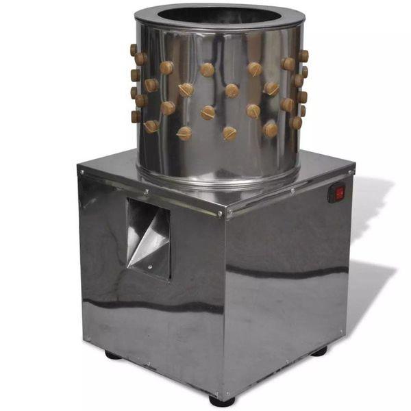 Elektrische plukmachine voor pluimvee met 98 plukvingers 27 cm 180 W