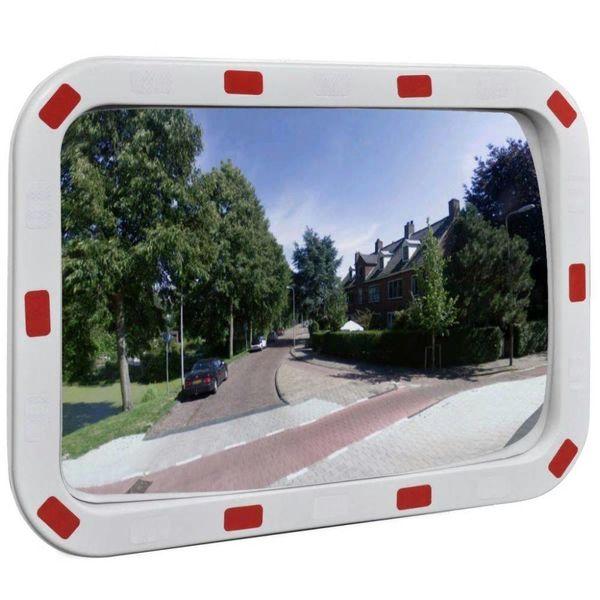 Verkeersspiegel met reflectoren rechthoek 40x60 cm