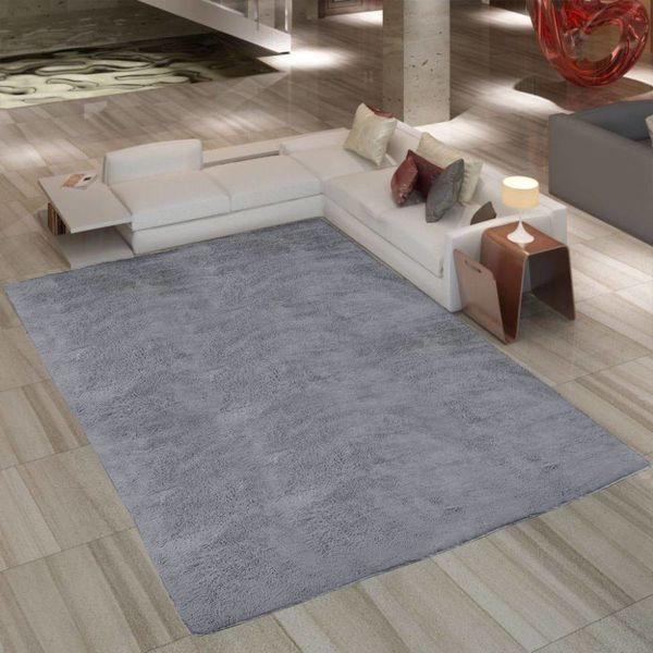Grijs hoogpolig tapijt 80 x 150 cm gewicht 2600g/m2