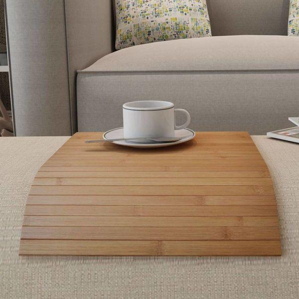 Bamboe placemat 4 stuks 50 x 30 cm (neutrale kleur)