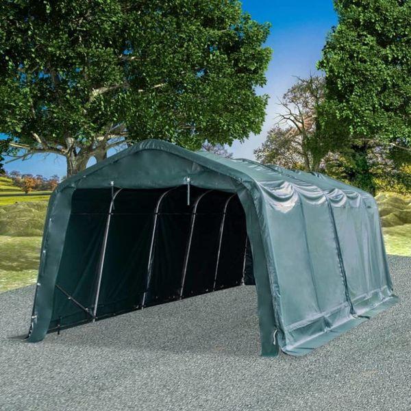 Veetent verwijderbaar 550 g/m² 3,3x8 m PVC donkergroen