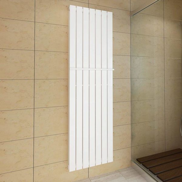 Dubbele verwarmingsradiator wit 542 mm x 1800 mm plus handdoekrek