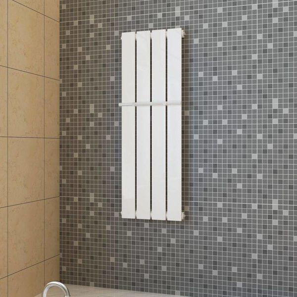 Enkele verwarmingsradiator wit 311 mm x 900 mm plus handdoekrek