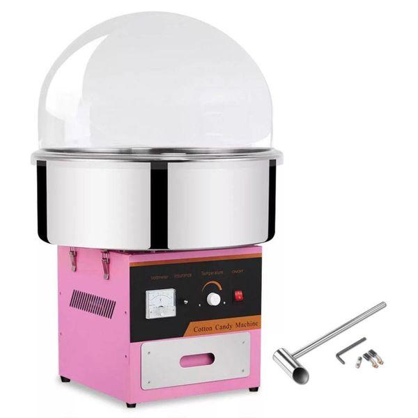 Professionele suikerspinmachine met deksel 1 kW