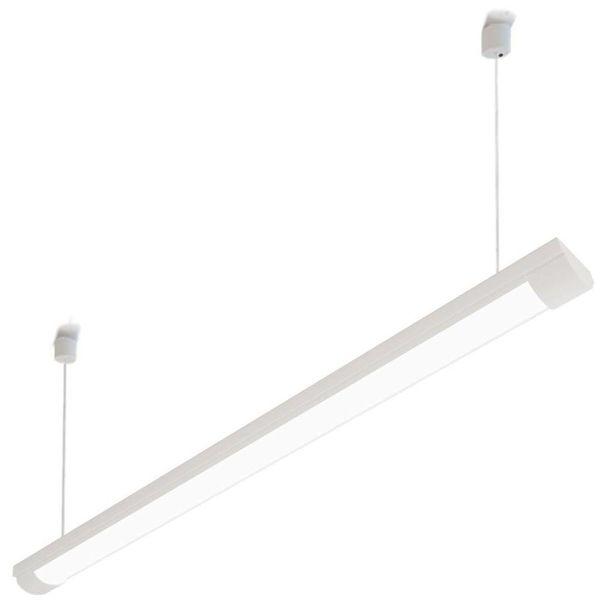 TL-lamp Armatuur 2 TL-lampen 58W T8 vochtbestendig + kap,  hangkoord