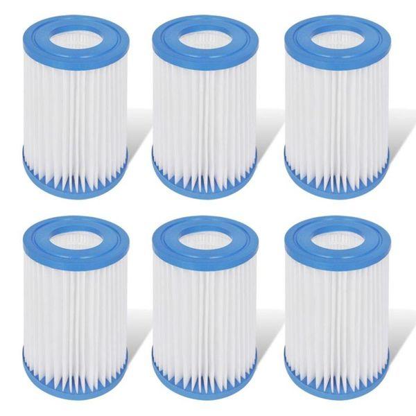 Filter set 6-delig voor filterpomp 530 & 800 gal/H