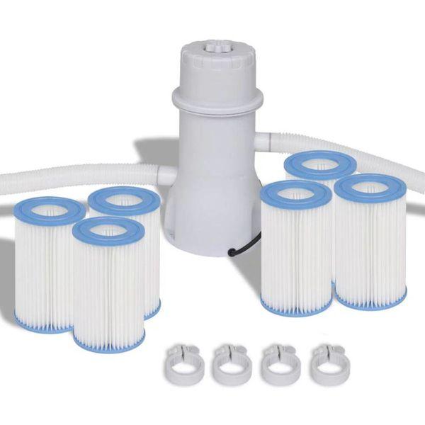 Filterpomp met 7-delige filter set voor 1000 gal/h