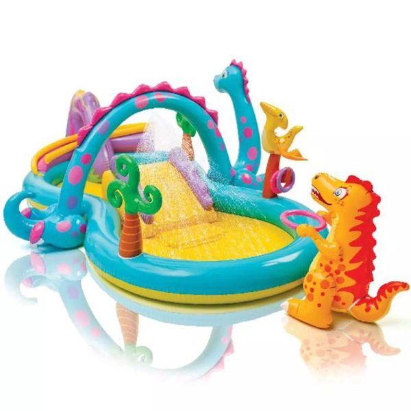 Dinoland Play Center opblaasbaar zwembad 333x229x112 cm 57135NP