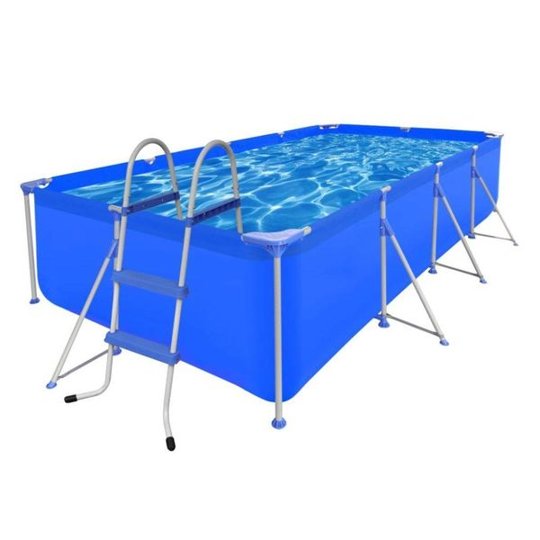 Opbouw zwembad met ladder 394 x 207 x 80