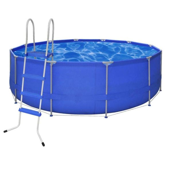 Opbouwzwembad met ladder rond 457 cm