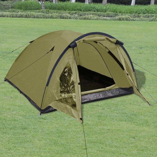 Tent 3-persoons groen