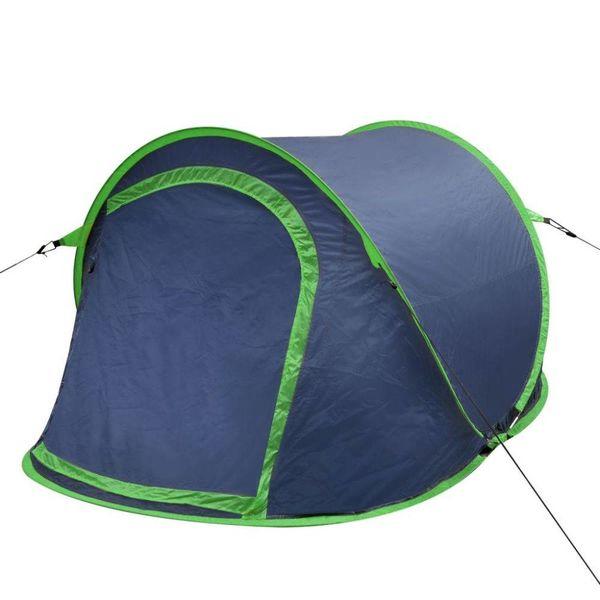 Pop-up tent 2 personen marineblauw / groen