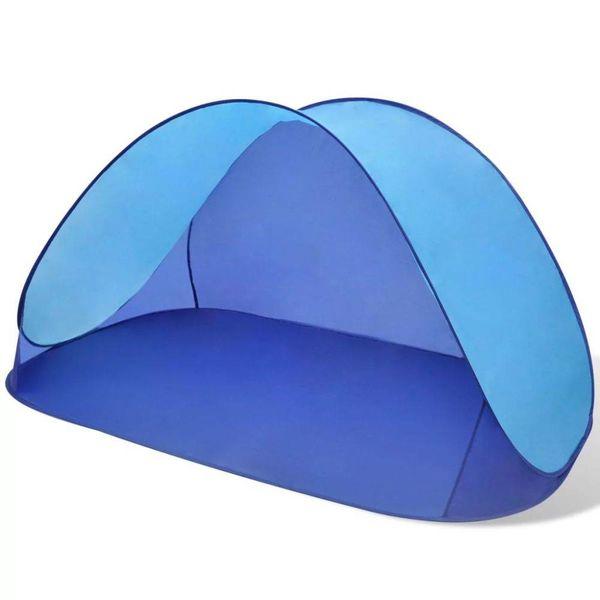 Opvouwbare strandtent, waterafstotend en met UV bescherming lichtblauw