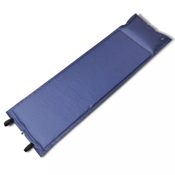 Slaapmat zelfopblazend blauw 185 x 55 x 3 cm (enkel)