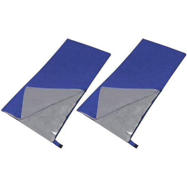 Lichtgewicht slaapzak met rechthoekige vorm (set van 2)