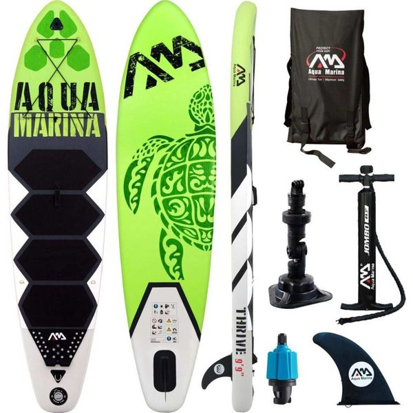 SUP board Thrive groen 300x75x15 cm