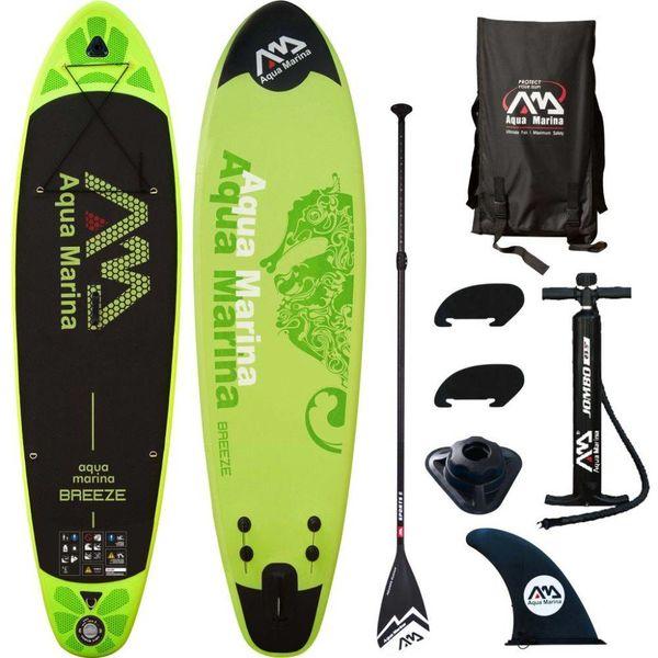 SUP board Breeze groen 300x75x10 cm