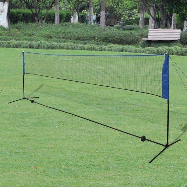 Badminton net met shuttles 500x155 cm