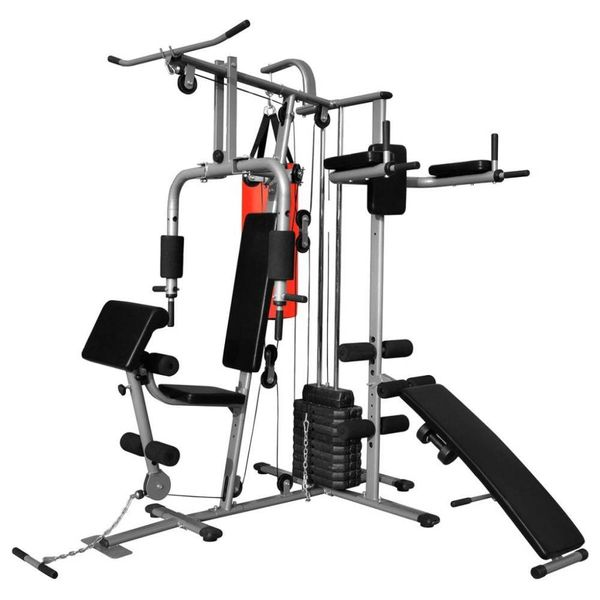 Fitnessapparaat multifunctioneel met 1 bokszak