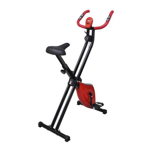 Vouwbare hometrainer Xbike 2,5 kg (zwart/rood)