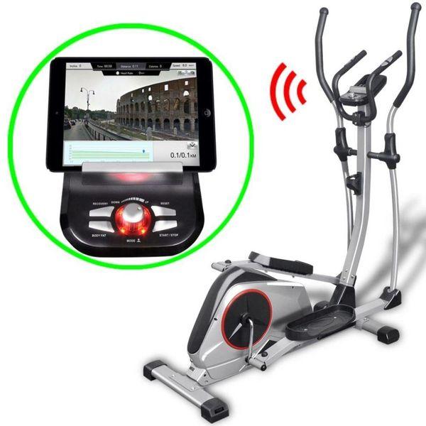 Crosstrainer XL programmeerbaar met app 18 kg roterende massa