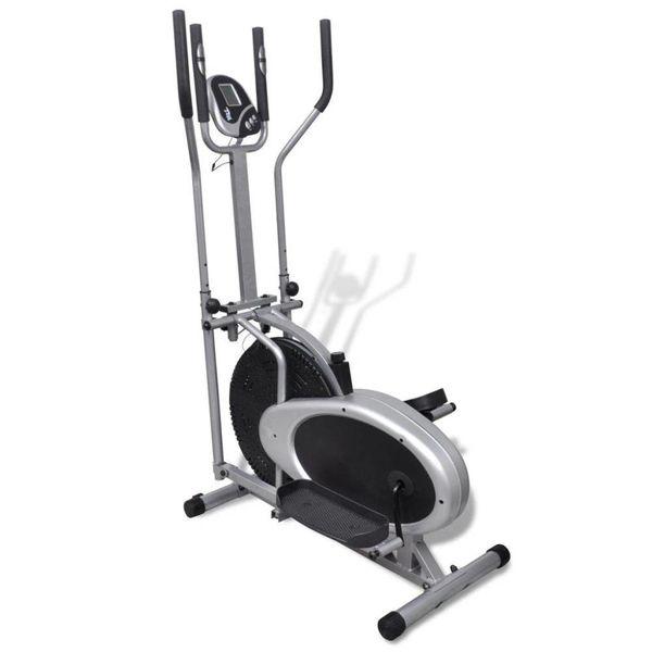 Crosstrainer met 4 stangen en hartslagmeter
