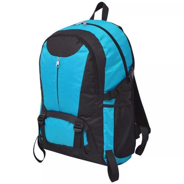 Hiking rugzak 40 L zwart en blauw