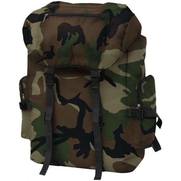 Rugzak legerstijl 65 L camouflage