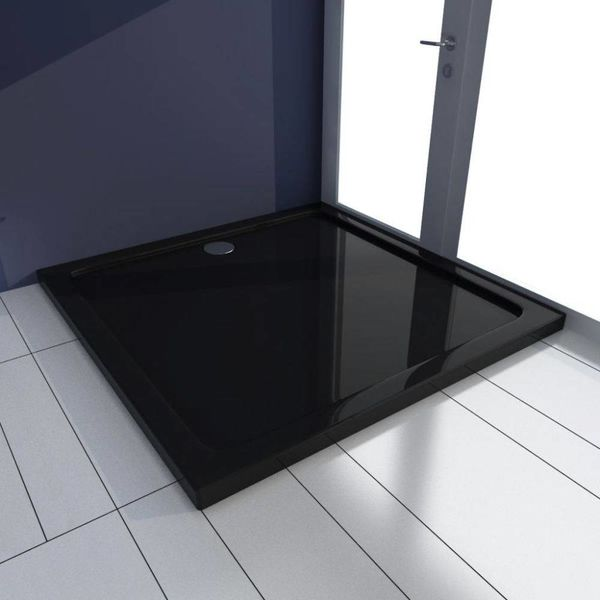 Douchebak vierkant ABS zwart 90 x 90 cm