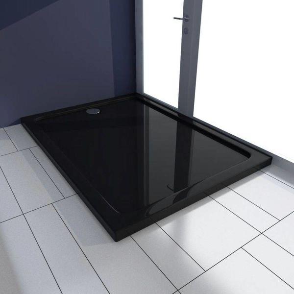 Douchebak rechthoekig ABS zwart 80 x 110 cm