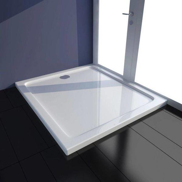 Douchebak rechthoekig ABS wit 80 x 90 cm