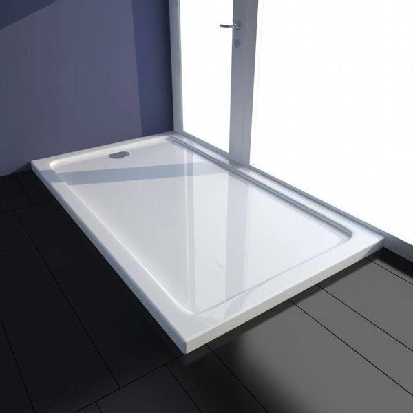 Douchebak rechthoekig ABS wit 70 x 120 cm