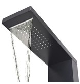 vidaXL Douche paneelsysteem aluminium mat zwart