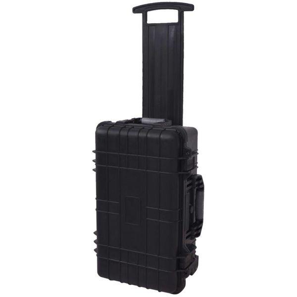 Hardcase transportkoffer met wielen en schuimen binnenkant