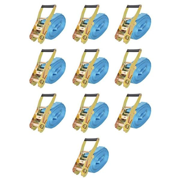 Spanbanden 4 ton 8mx50mm blauw 10 st