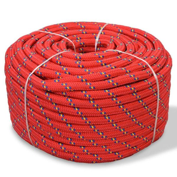 Boot touw 14 mm 50 m polypropyleen rood