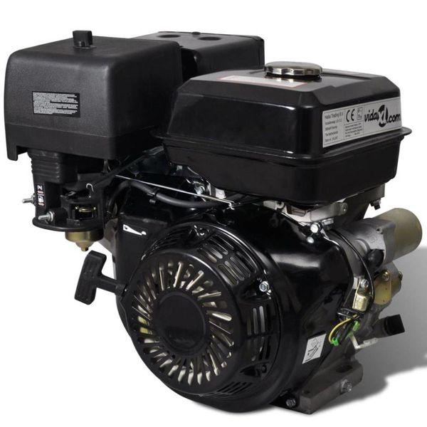 Benzinemotor 15 PK 9,6 kW zwart