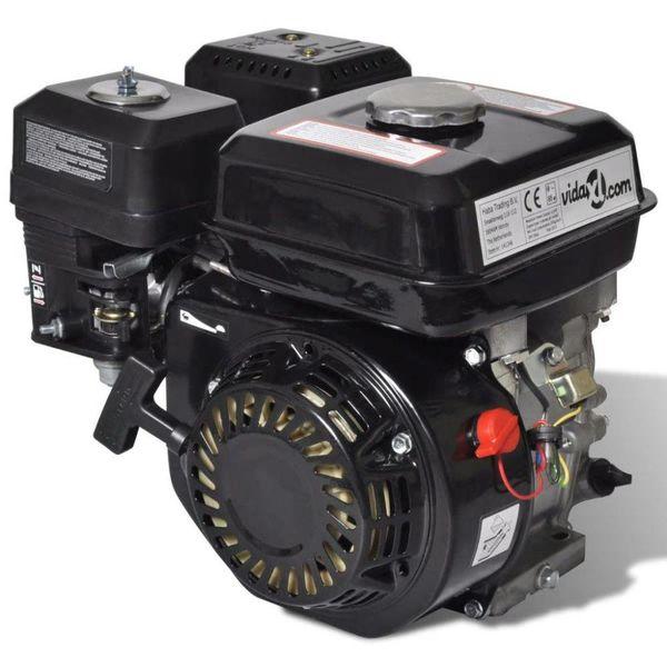 Benzinemotor 6,5 PK 4,8 kW zwart