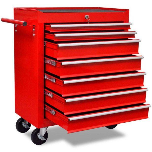 Gereedschapswagen 7 lades rood