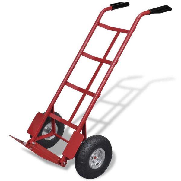 Steekwagen metaal (Rood/Zwart)