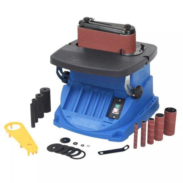 Spil- en bandschuurmachine oscillerend 450 W blauw