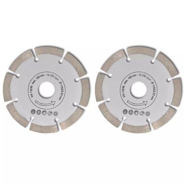 Diamantzaagblad cirkelvormig 115 mm (2 stuks)