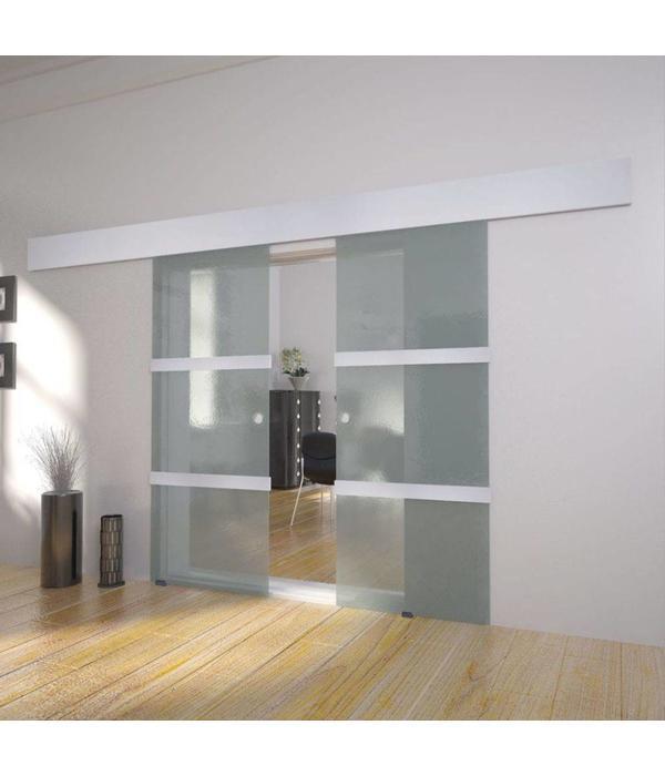 Glas Schuifdeur Binnen.Vidaxl Dubbele Schuifdeur Glas Voordeeltrends