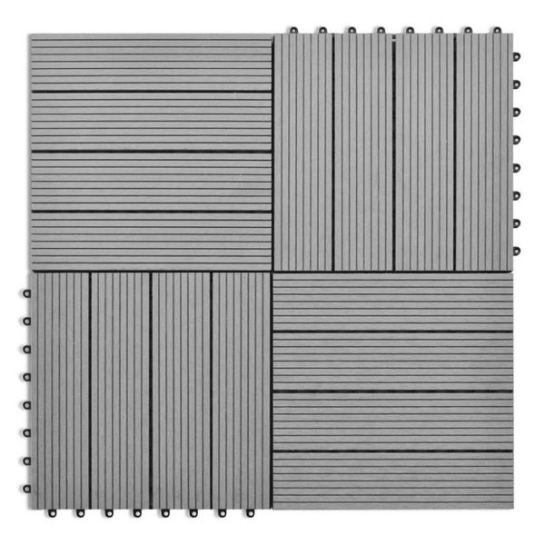 HKC tegels grijs 30x30 cm 1m² 11 st