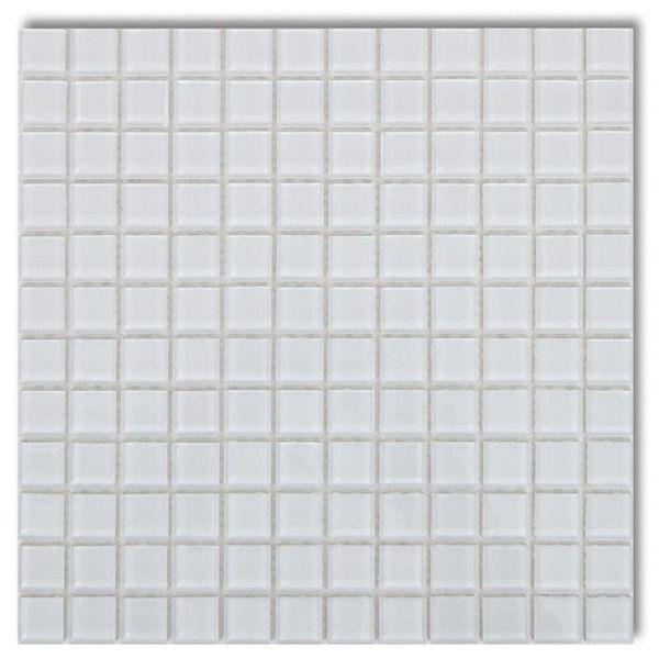 Mozaïektegels glas wit 30 stuks (2,7 m2)